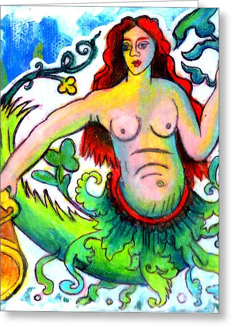 Mermaid Of The High Seas Greeting Card by Genevieve Esson