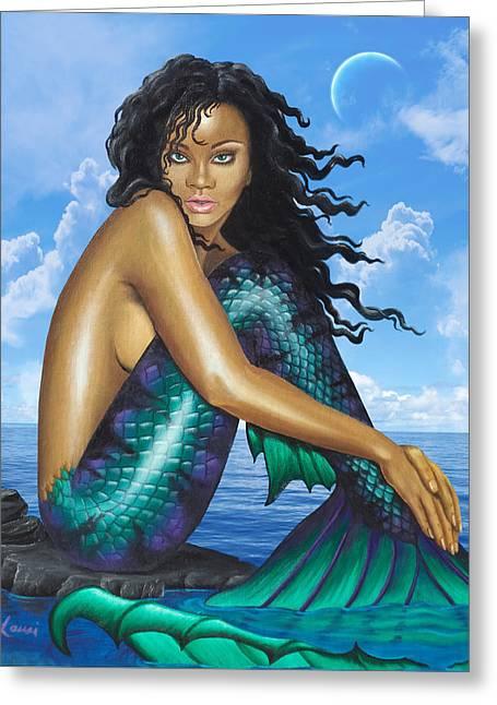 Mermaid Rihanna 2.0 Greeting Card