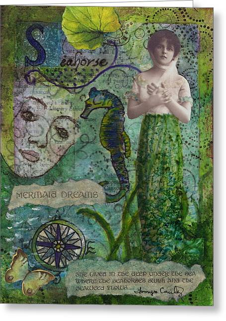 Mermaid Seahorse Dreams Greeting Card