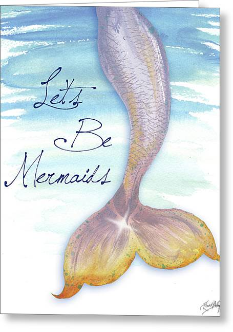 Mermaid Tail II Greeting Card