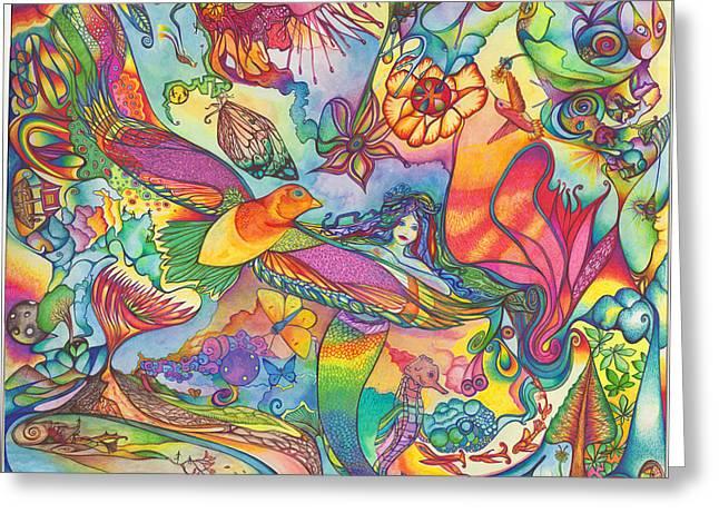 Mermaid Towne Greeting Card