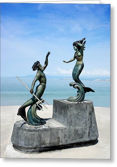 Mermaids Greeting Card by Aged Pixel