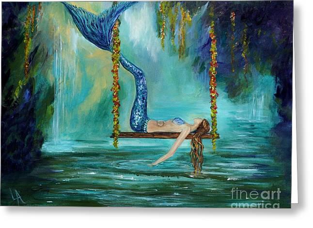 Mermaids Lazy Lagoon Greeting Card