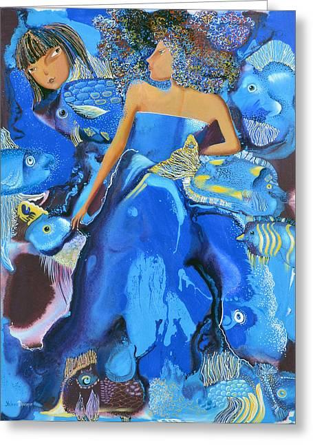 Mermaids Greeting Card by Yelena Revis