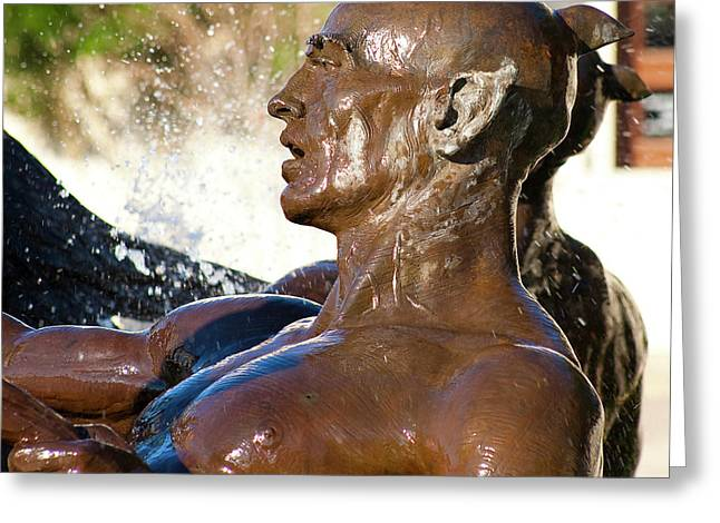 Merman - Littlefield Fountain University Of Texas  Greeting Card by Mark Weaver