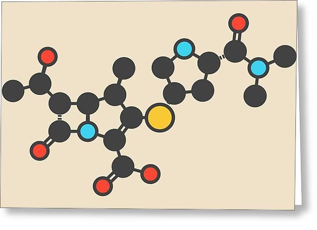 Meropenem Antibiotic Molecule Greeting Card