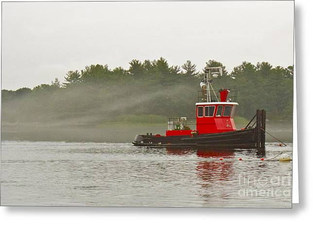 Greeting Card featuring the photograph Merrimack Mist by Alice Mainville