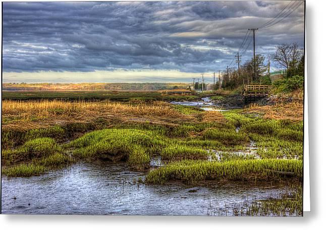 Merrimack River Marsh Greeting Card