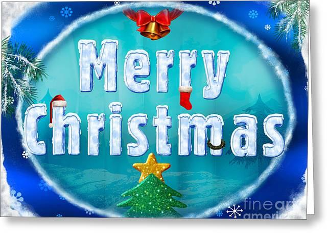 Merry Christmas 01 Greeting Card by Bedros Awak