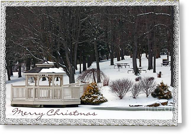 Merry Christmas 1 Greeting Card by Gena Weiser