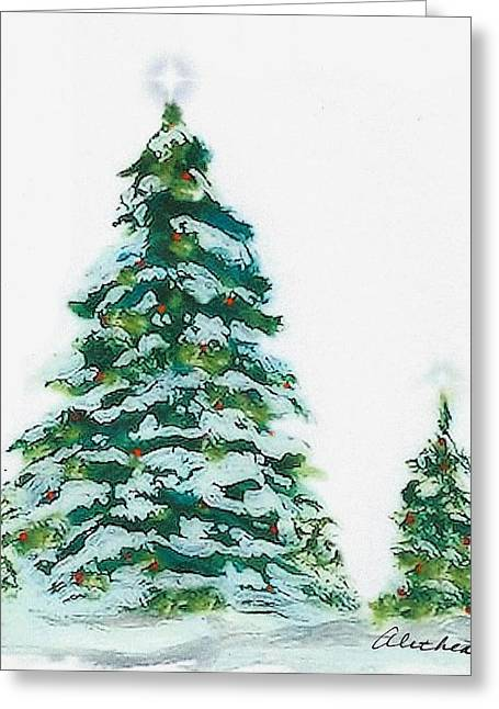 Merry Christmas Greeting Card by Alethea McKee
