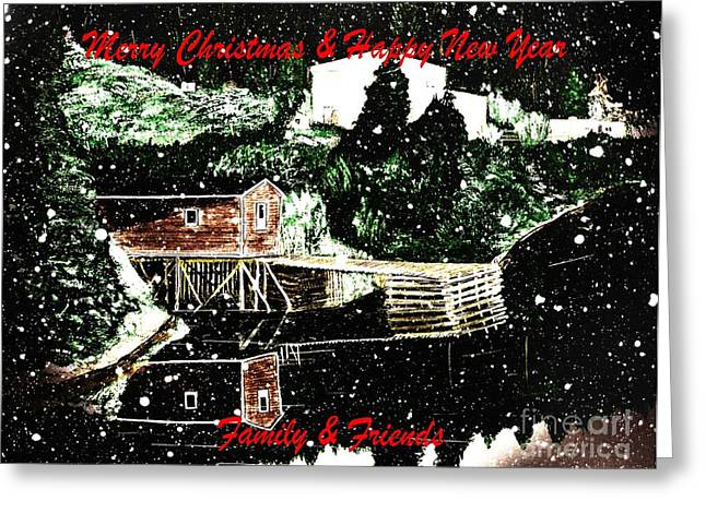 Merry Christmas And Happy New Year Greeting Card by Barbara Griffin
