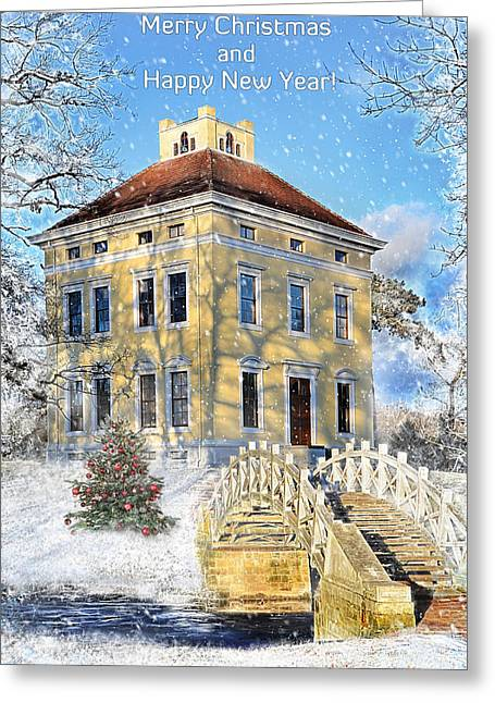 Merry Christmas And Happy New Year Greeting Card by Gynt