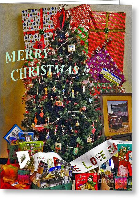 Greeting Card featuring the photograph Merry Christmas Card Color by Gary Brandes