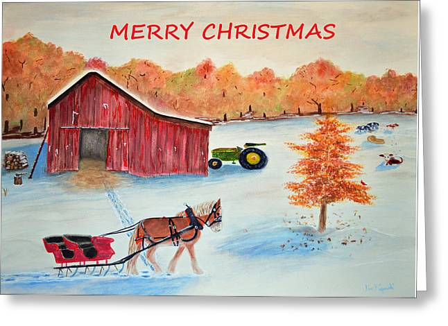 Merry Christmas Card Greeting Card by Ken Figurski