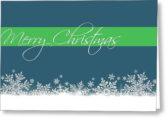 Merry Christmas Greeting Card by Cathie Tyler
