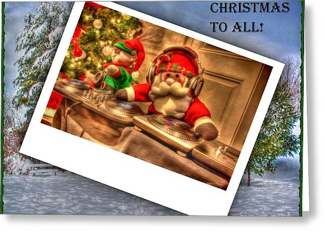 Merry Christmas Greeting Card by Dan Stone