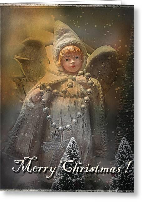 Merry Christmas Greeting Card by Elena Nosyreva