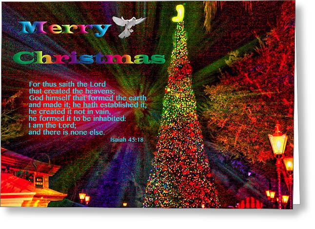 Merry Christmas Explosion Greeting Card by Terry Wallace