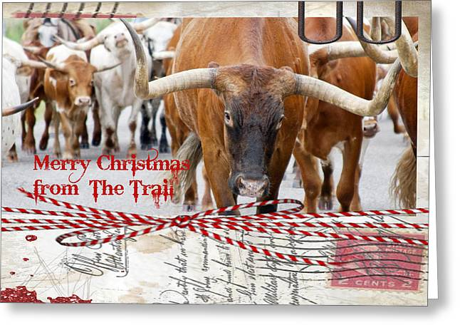 Merry Christmas From The Trail Greeting Card by Toni Hopper