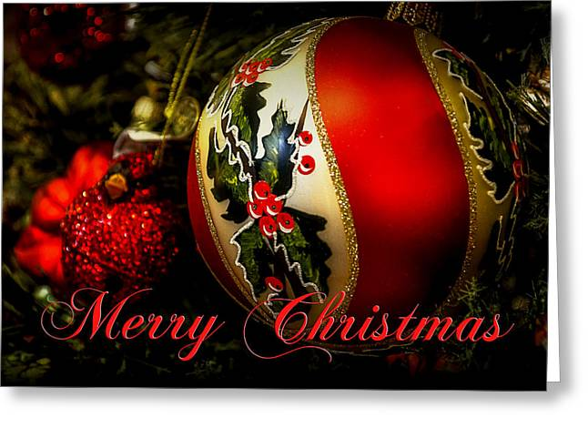 Merry Christmas Greeting Card Greeting Card by Julie Palencia