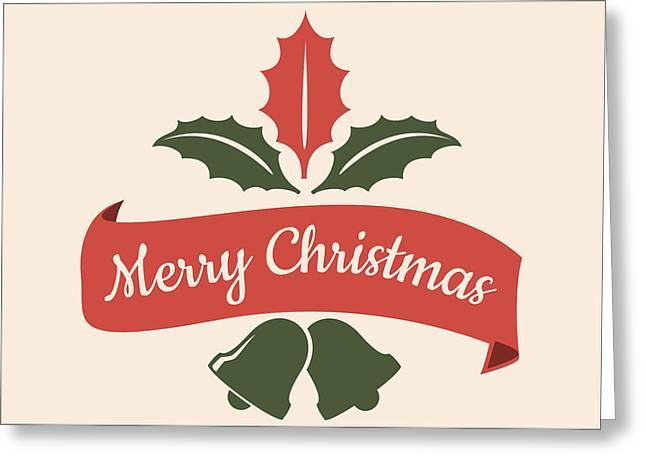 Merry Christmas Happy Holidays Greeting Card by Florian Rodarte