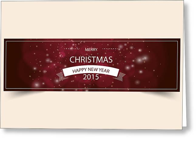 Merry Christmas Happy New Year 2015 Greeting Card