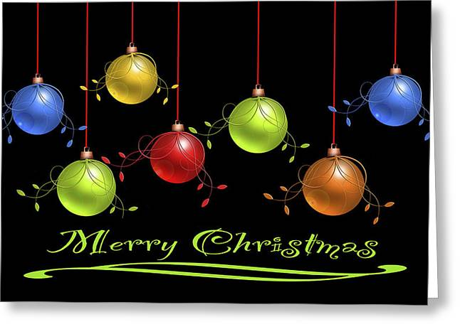 Greeting Card featuring the digital art Merry Christmas by Katy Breen