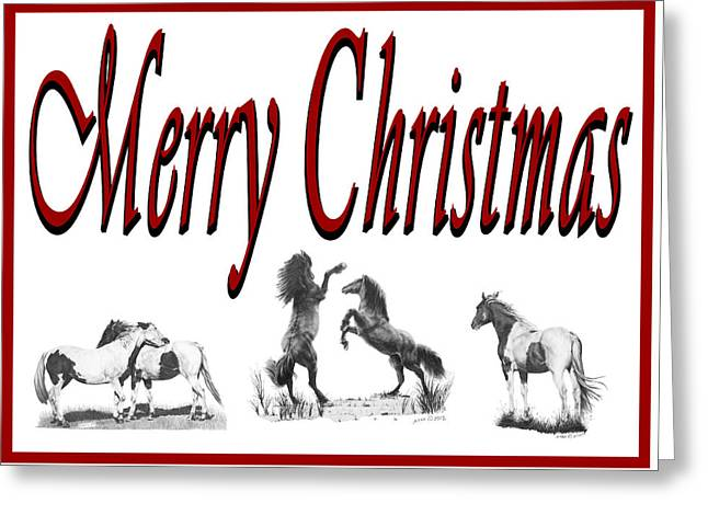 Greeting Card featuring the drawing Merry Christmas by Marianne NANA Betts