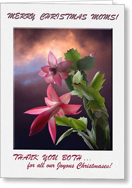 Merry  Christmas  Moms Photo Greeting Card  Greeting Card by Andrew Govan Dantzler