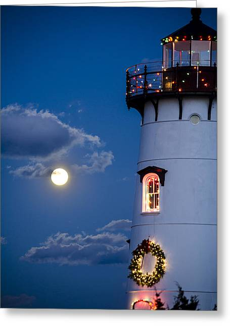Merry Christmas Moon Greeting Card