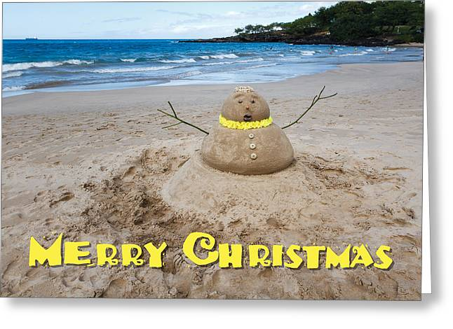 Merry Christmas Sandman Greeting Card by Denise Bird