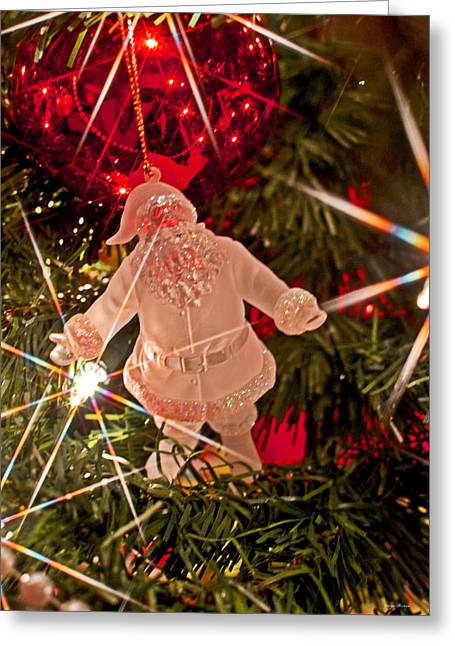 Merry Christmas - Santa Ornament 001 Greeting Card