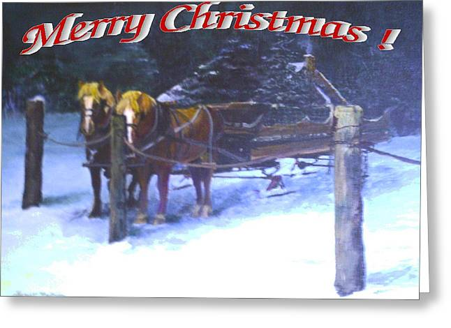 Merry Christmas Sleigh Greeting Card