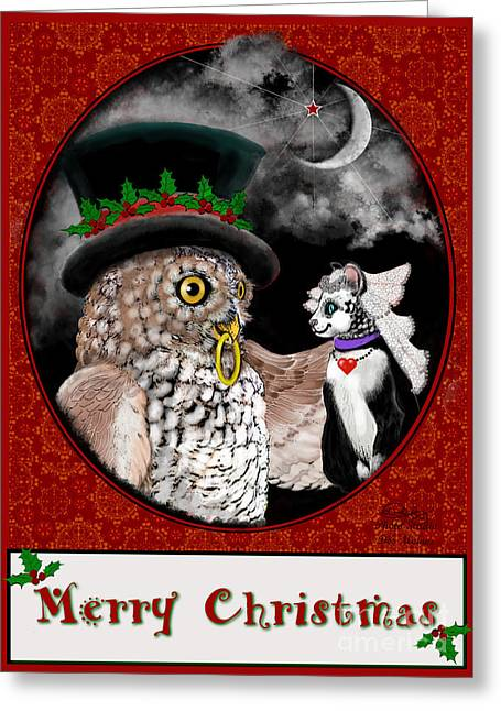 Merry Christmas Sweethearts Greeting Card by Carol Jacobs