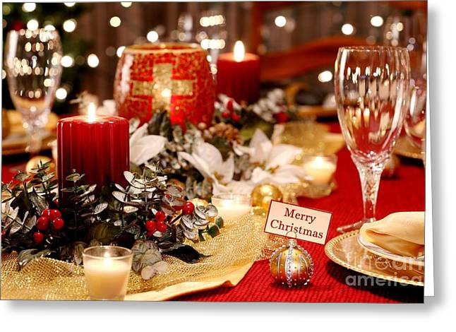 Merry Christmas Table Greeting Card