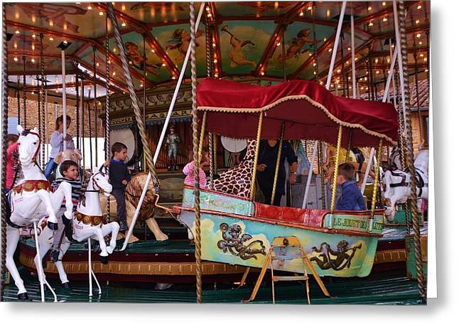Merry Go Round Greeting Card by Dany Lison