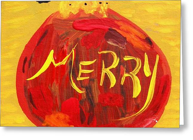 Merry Greeting Card by Mary Carol Williams