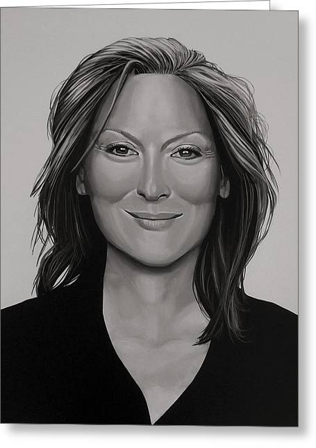 Meryl Streep Greeting Card by Paul Meijering