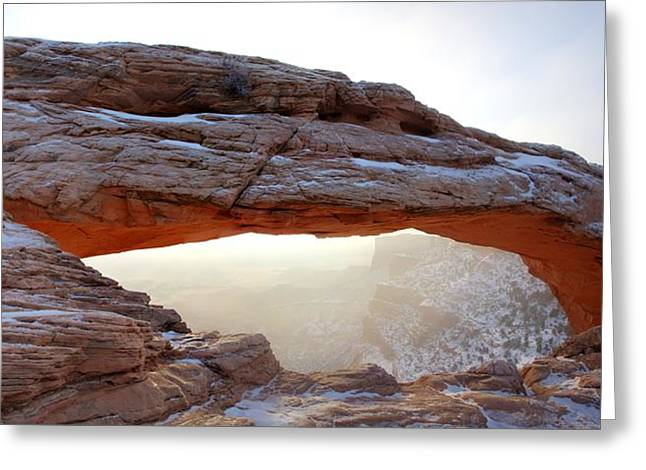 Greeting Card featuring the photograph Mesa Arch Looking North by David Andersen