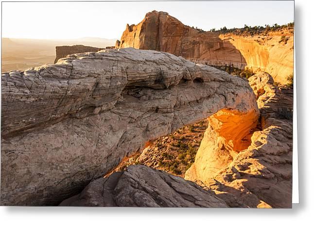 Mesa Arch Sunrise 6 - Canyonlands National Park - Moab Utah Greeting Card