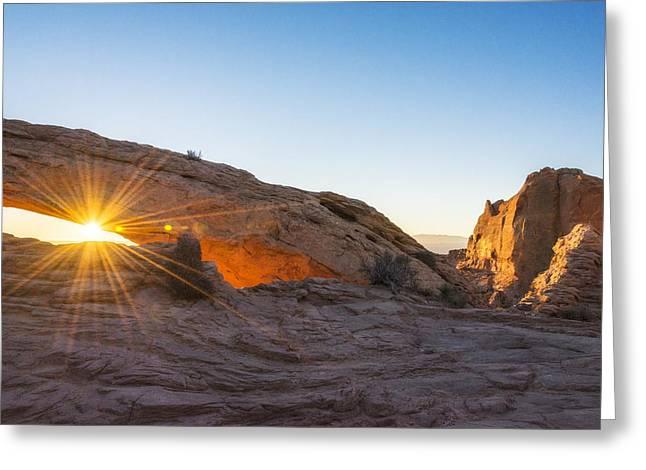 Mesa Arch Sunrise 8 - Canyonlands National Park - Moab Utah Greeting Card
