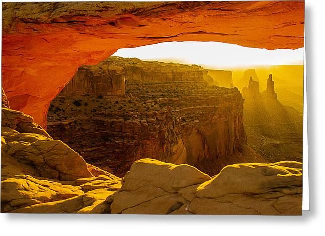 Mesa Arch Sunrise Greeting Card
