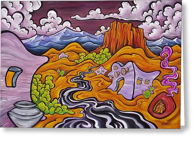 Mesa Greeting Card by Robb Rael