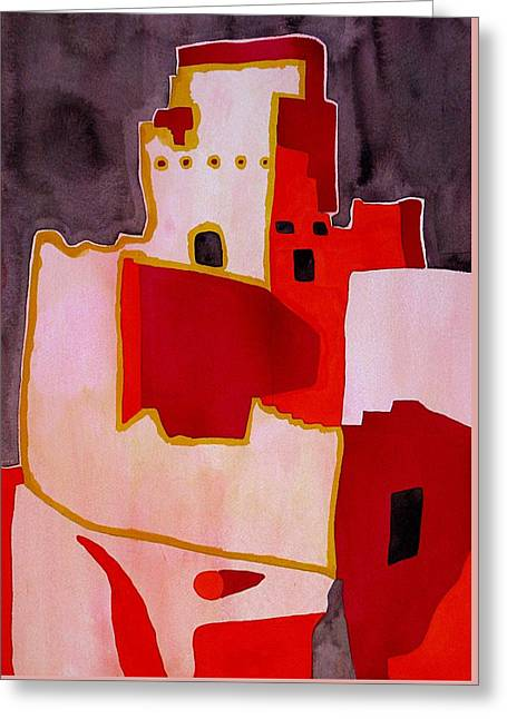Mesa Verde Original Painting Sold Greeting Card