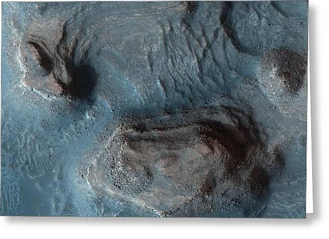Mesas In The Nilosyrtis Mensae Region Of Mars Greeting Card