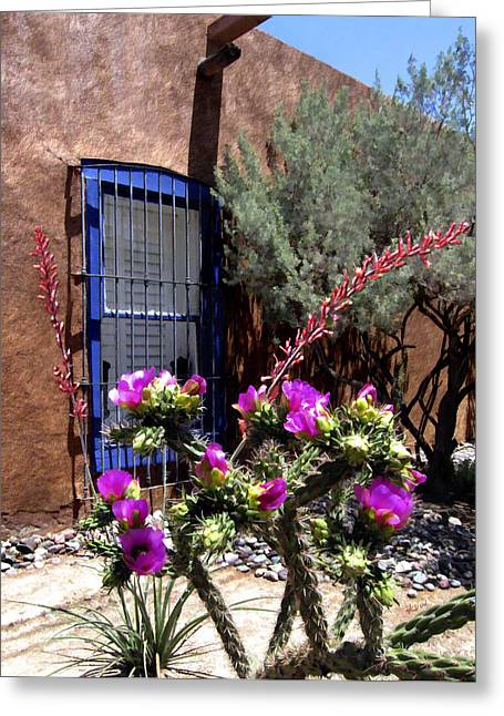 Mesilla Cholla Greeting Card by Kurt Van Wagner
