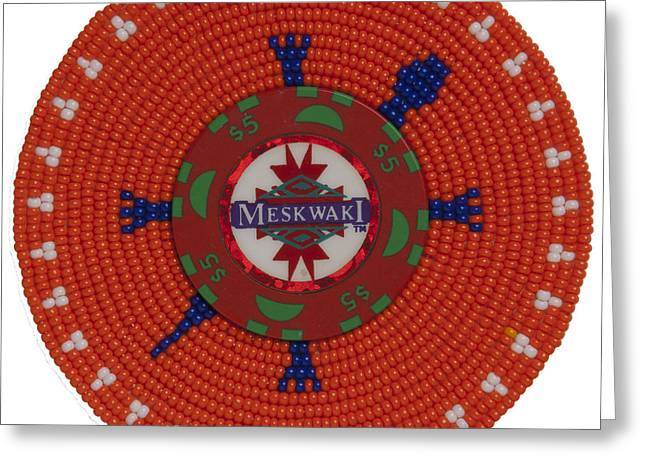 Meskwaki Orange Greeting Card
