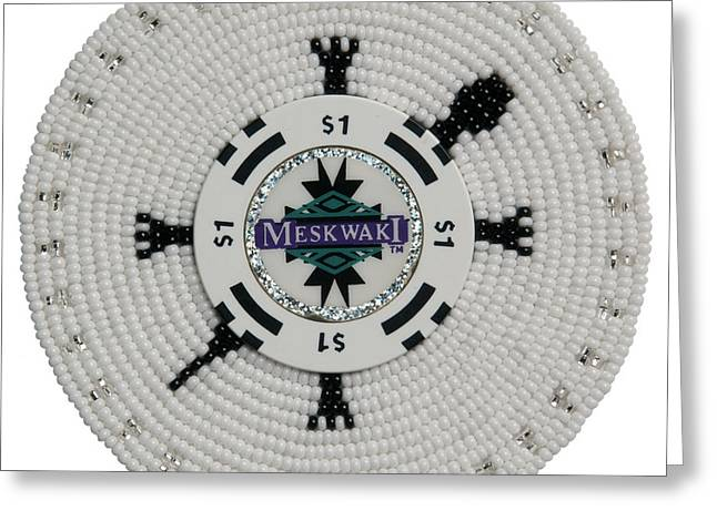 Meskwaki White Greeting Card