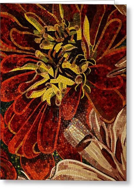 Mesmerizing Sparkling Vivacious Ceramic Tile Mosaic Greeting Card